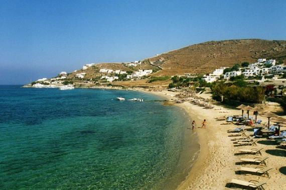 'The beach at Aghios Ioannis' - Mykonos